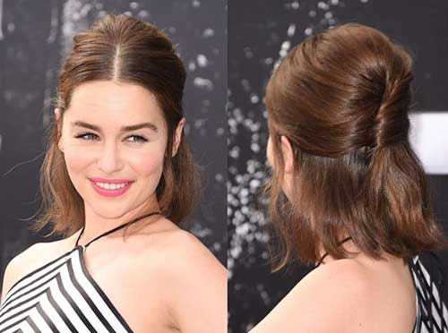 Half Up Simple Cute Short Hairstyles
