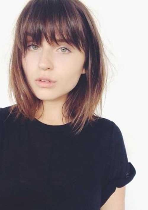 Best Simple Short Bob Hair Styles with Bangs