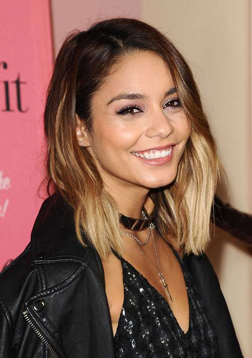 Vanessa Hudgens Short Straight Hair 2015