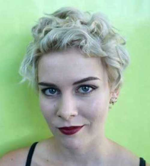 Cute Very Short Curly Hairstyles