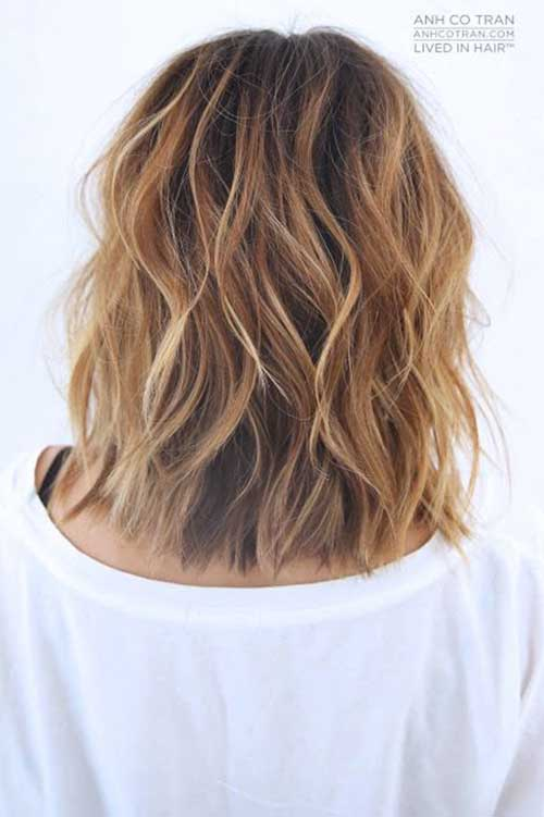 Wavy Hair Short Hairstyles Back View