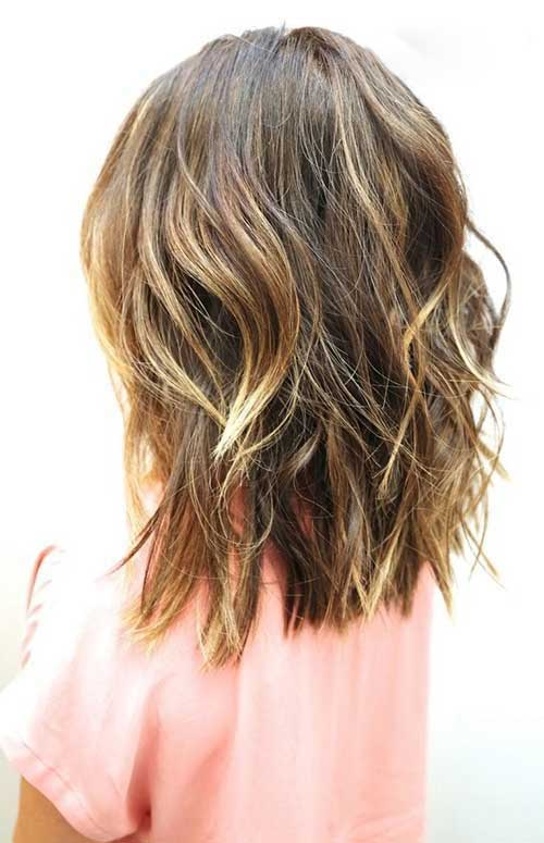 Wavy Medium Short Haircuts