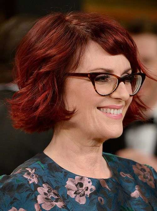 Wavy Short Red Hairstyles