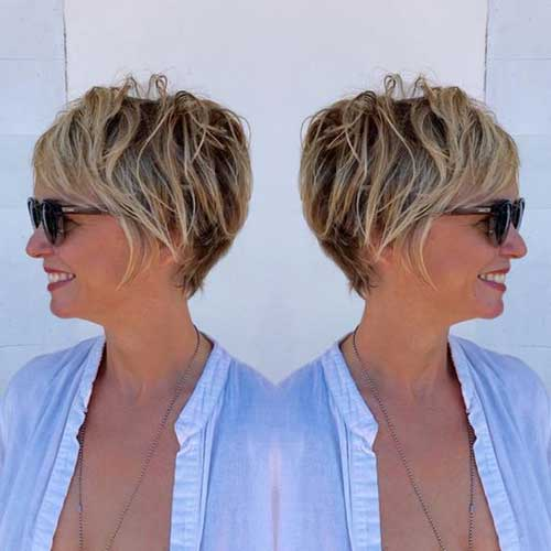 Short Hair Styles Mature Woman 68