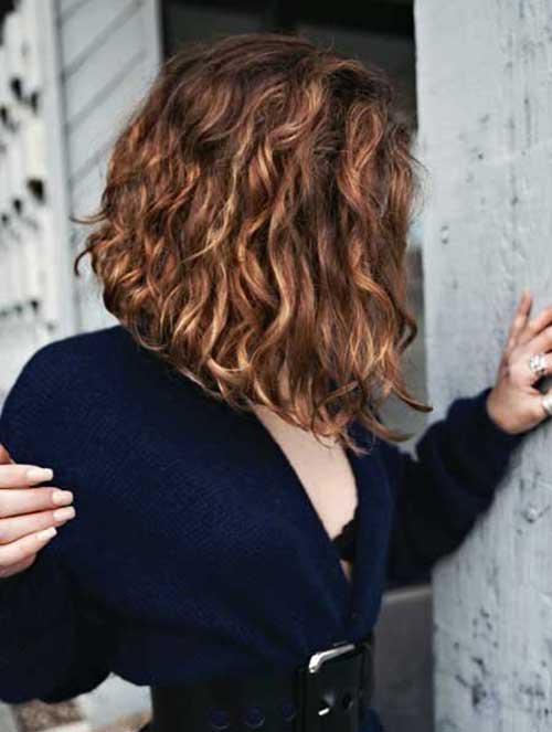 20 Short Brown Curly Hair