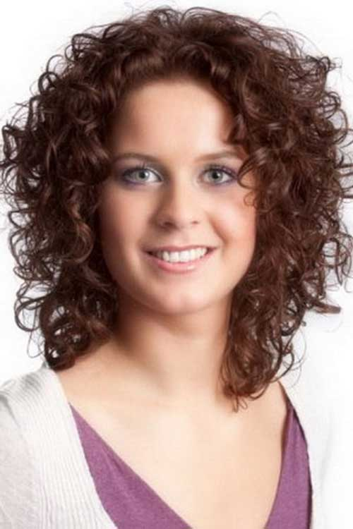 Astounding Curly Hair For Fat Face Best Hairstyles 2017 Short Hairstyles Gunalazisus