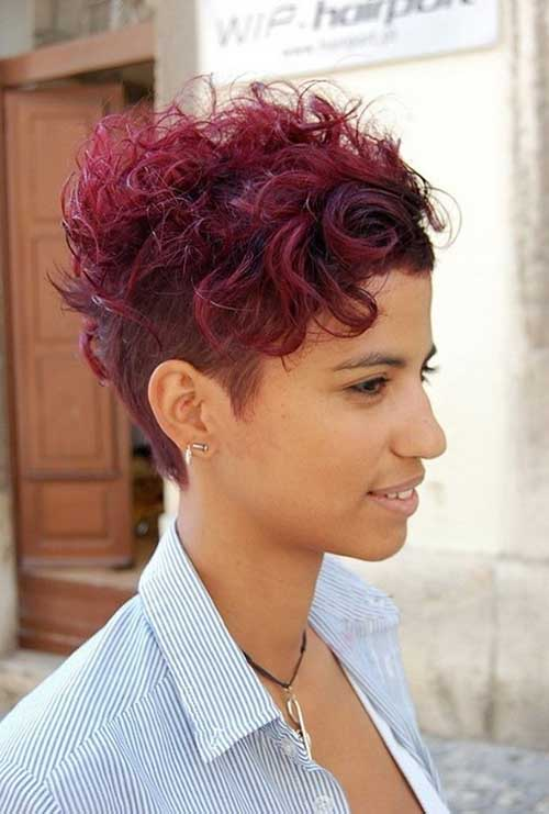 Cute Curly Hairstyles For Short Hair-13