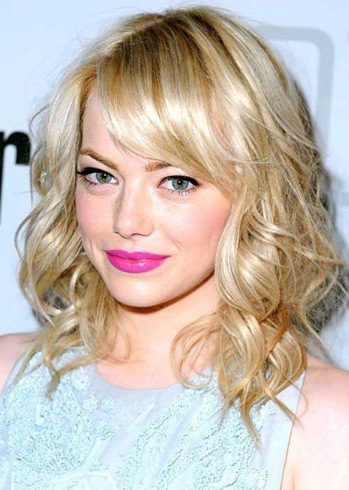 Short Curly Hair for Round Faces-13