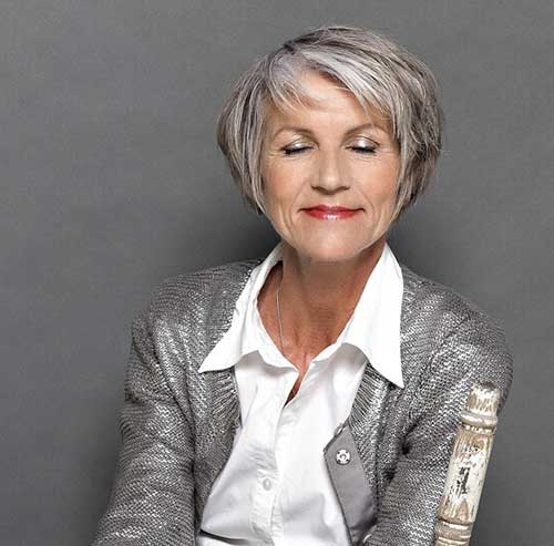 short haircuts for women over 50 with thick hair stylish haircuts for 50 2316 | 14.Short Haircut for Women Over 50
