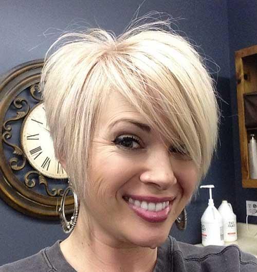 Cute Short Asymmetrical Hair. Short Hair for Round Faces-15