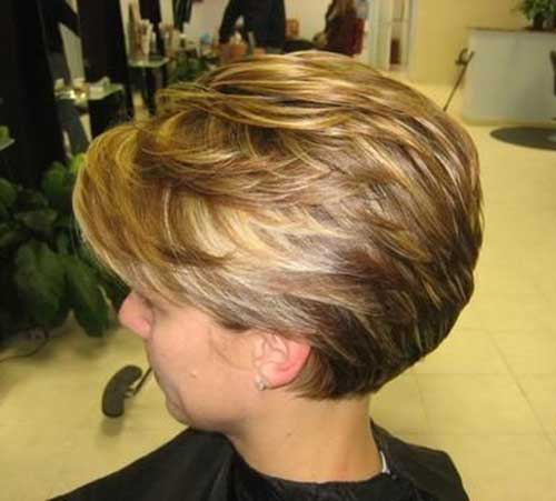 Layered Stacked Bob. Short Haircuts for Women Over 50-16
