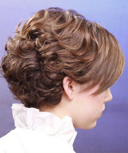 Short Brown Curly Hair-19