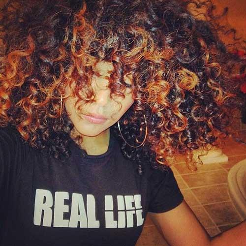 Short Brown Curly Hair-20