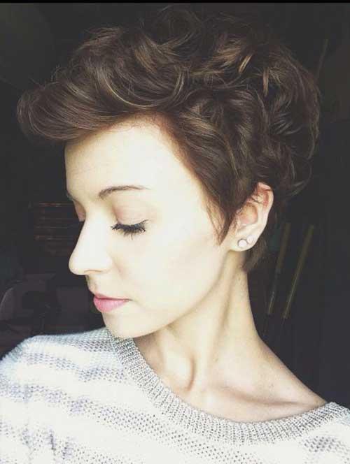 Short Brown Curly Hair-22