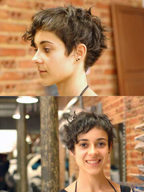 Pixie Cut for Curly Hair-6