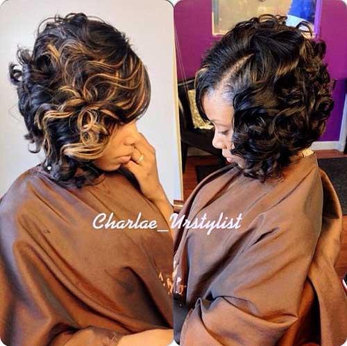 Short Brown Curly Hair-6