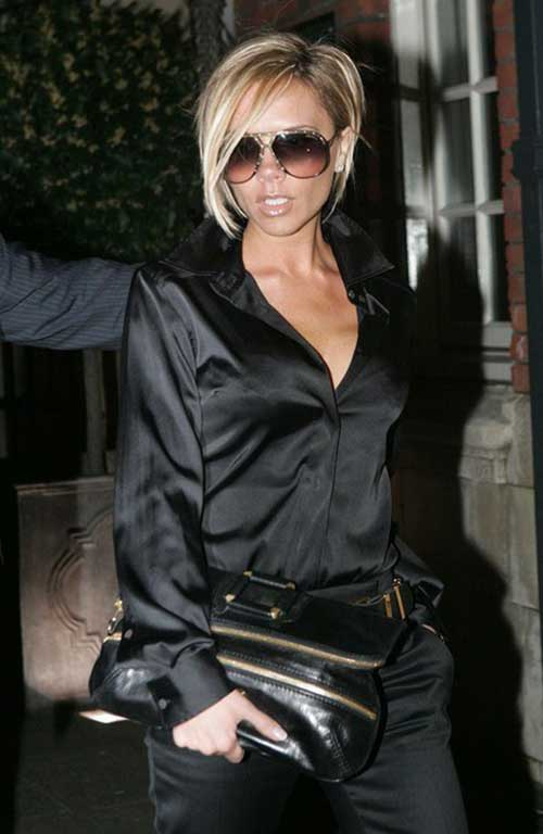 Victoria Beckham Short Blonde Hair-6