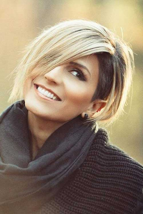 Chic Short Hair Ideas For Round Faces