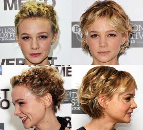 Cute Curly Hairstyles For Short Hair-8