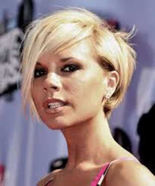 Victoria Beckham Short Blonde Hair-8