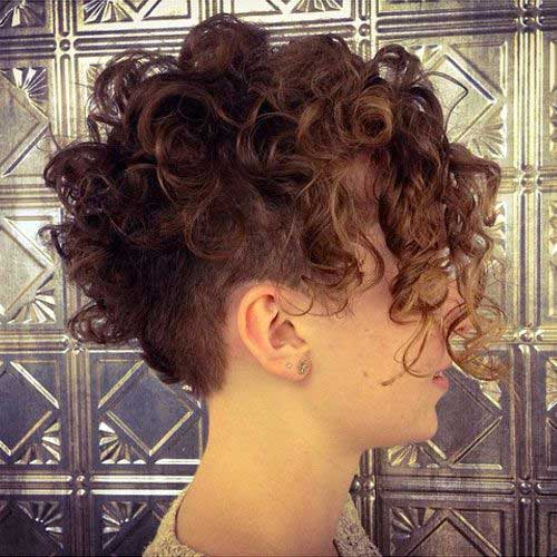 Curly Pixie Haircut