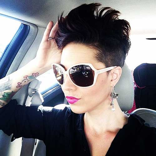 10 best mohawk pixie cut short hairstyles 2017 2018. Black Bedroom Furniture Sets. Home Design Ideas