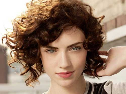 Short Curly Brown Hair