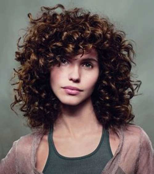 Short Curly Brown Hairstyles