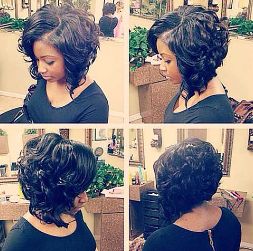 10 Nice Short Curly Weave Styles
