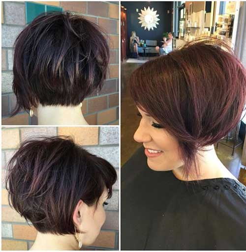 Short Stacked Hair