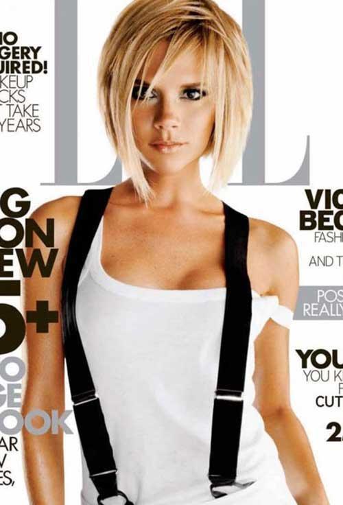 Victoria Beckham Short Blonde Hair