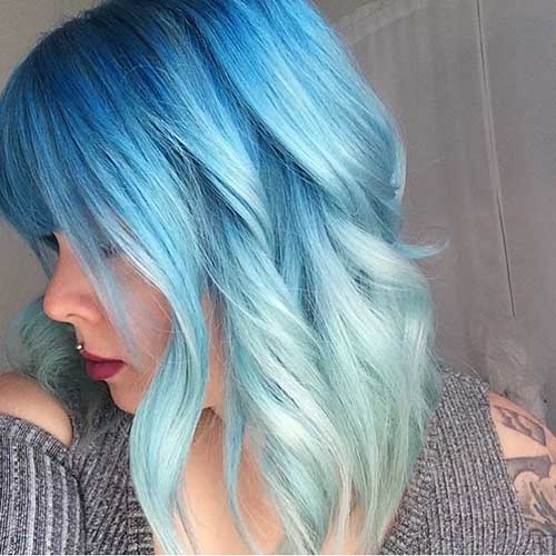 Eye-Catching Blue Hair Color Ideas On Short Hair