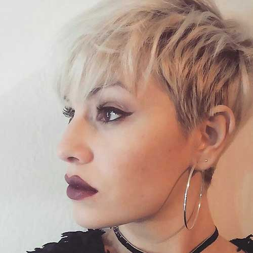 Short Hair with Bangs - 10