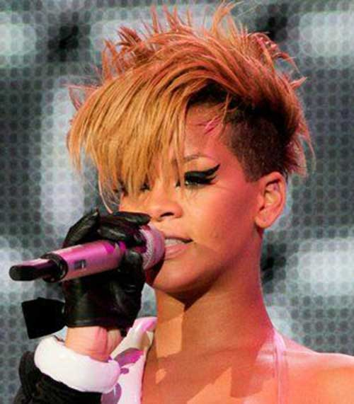 Rihanna Short Blonde Hair-10