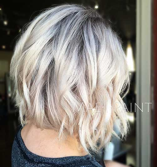 Short Blonde Haircut - 11
