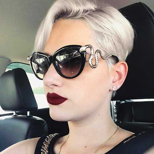 Short Hair with Bangs - 11