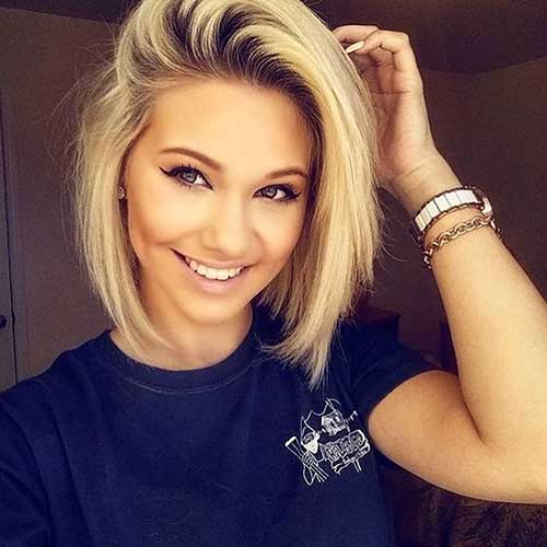 Short Hairstyles For Round Hairstyles - 11