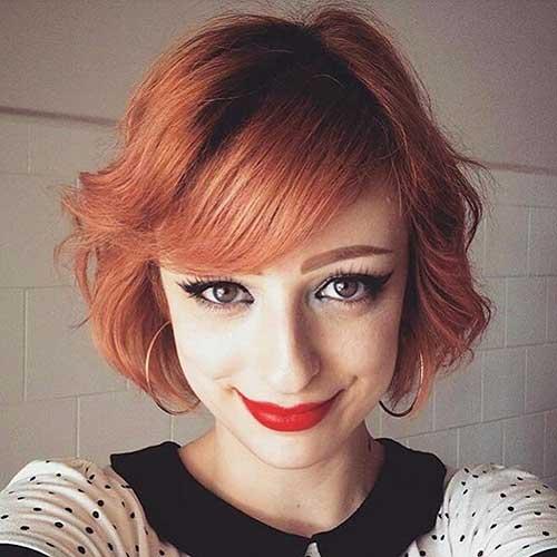 Short Hair with Bangs - 12