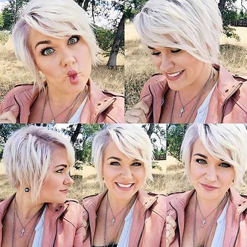 Short Hairstyles For Round Hairstyles - 12