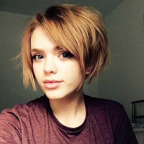 Short Hairstyles For Round Hairstyles - 14