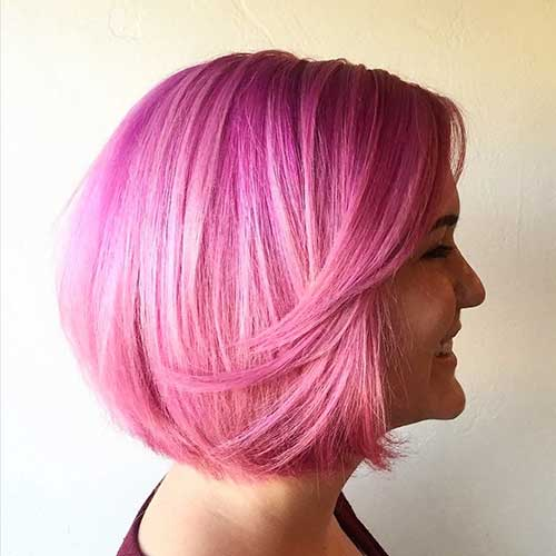 Nice Short Pink Hair Ideas for Young Women | Short