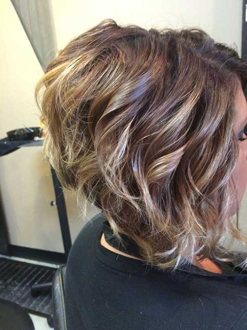 Curly Inverted Bob Haircuts