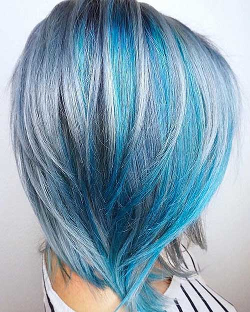 Eye Catching Blue Hair Color Ideas On Short Hair