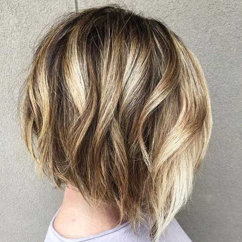 Unique Hair Colors on Short Haircuts