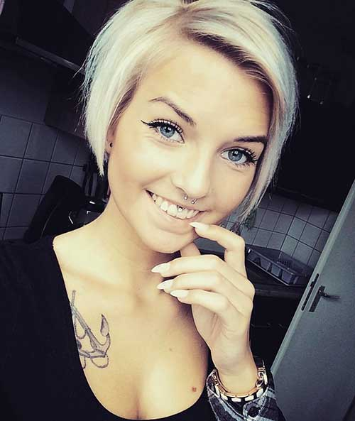 Short Hairstyles For Round Hairstyles - 20