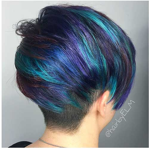 Eye Catching Blue Hair Color Ideas On Short Hair Short