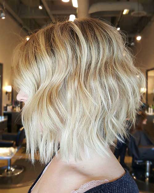 Short Blonde Haircut - 22