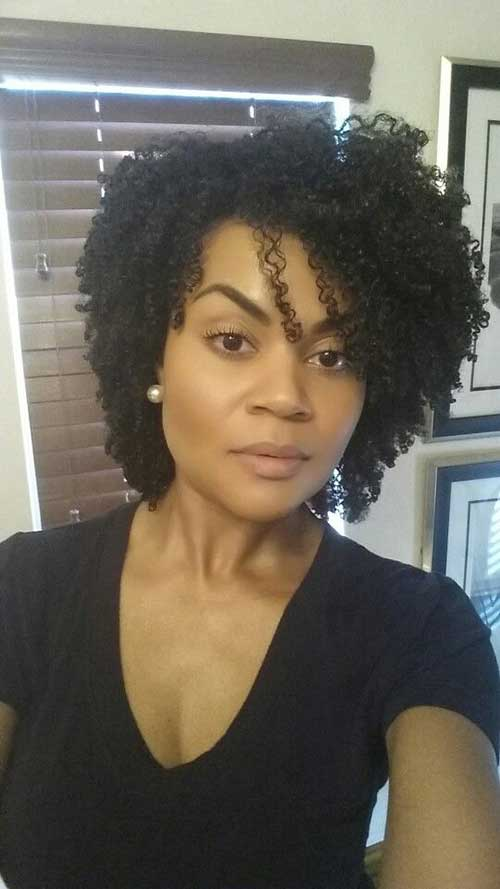 Short Curly Afro Hairstyles-22