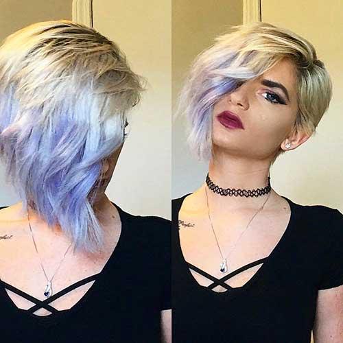 Short Hair with Bangs - 23