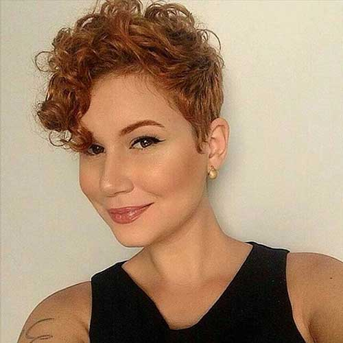 Short Haircuts for Curly Hair - 23